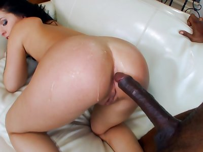 Litlle Madelyn takes her first big black dick