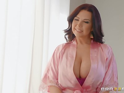 massive tits Sheridan Love makes hard dick disappears in her pussy