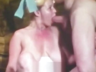 Big-busted Teen with Hairy Cunt in Xxx Action (1970s Vintage)