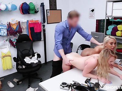 Security guy punishes shoplifting stepmom Kylie Kingston and say no to yummy stepdaughter