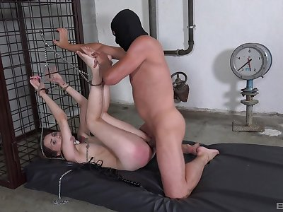 Bitch gets ass spanked by the brush master then unwrought fucked
