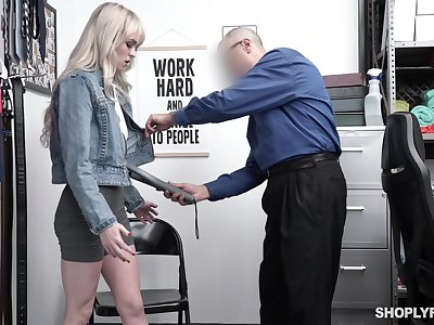 Guilty festival chick Lilly Bell strips at the cop and gets poked missionary
